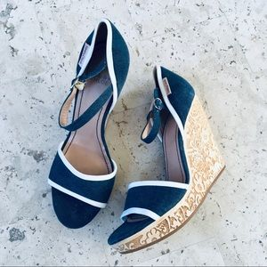 See by Chloe Denim Wedges Sandals Size 10